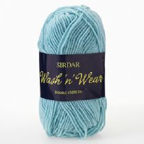 Sirdar Wash'n Wear Double Crepe DK 50g - RRP £2.67 OUR Clearance Price from £1.75
